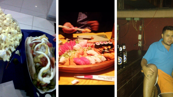 Catch a movie ⇨ Sushi restaurant ⇨ Bar