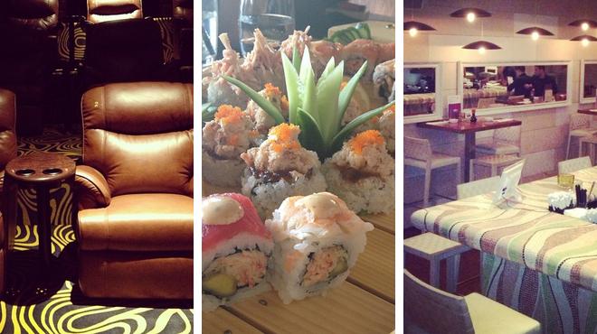 Catch a movie ⇨ Sushi restaurant ⇨ Lounge