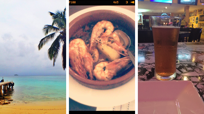 Beach ⇨ Seafood restaurant ⇨ Brewery