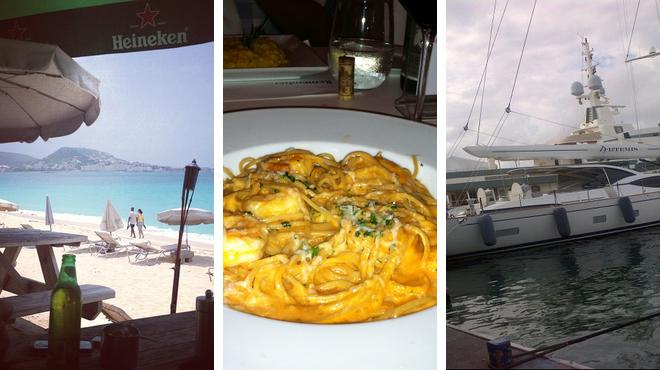 Beach ⇨ Italian restaurant ⇨ Bar