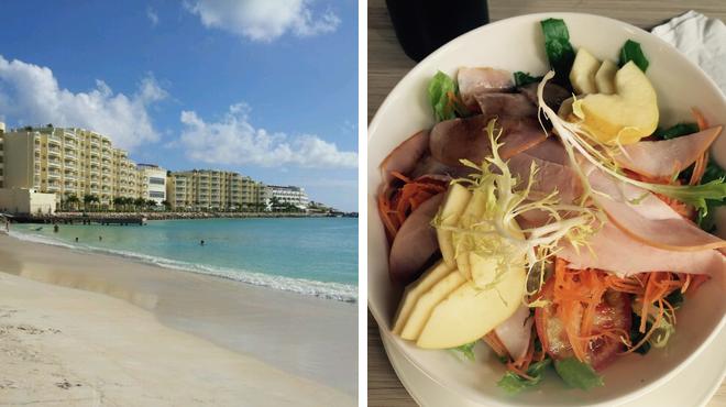 Harbor / marina ⇨ Vegetarian / vegan restaurant
