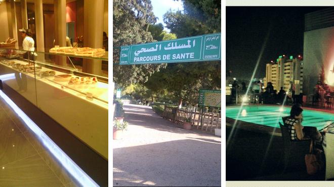 Cupcake shop ⇨ Park ⇨ Hotel bar