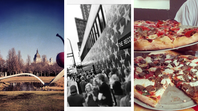 Sculpture garden ⇨ Music venue ⇨ Pizza place