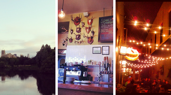 Park ⇨ Café ⇨ Bar