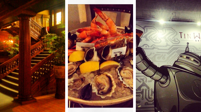 Experience exhibits ⇨ French restaurant ⇨ Brewery