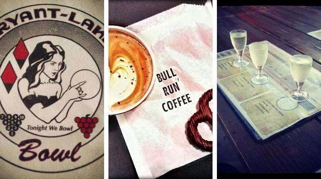 Bowling ⇨ Coffee shop ⇨ Sake bar