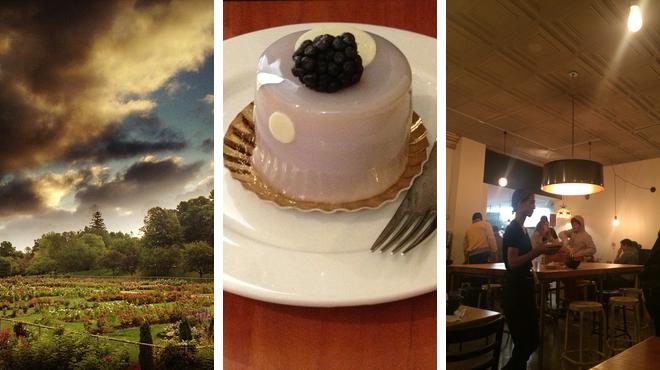 Garden ⇨ Bakery ⇨ Ramen restaurant