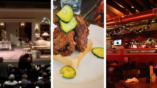 Indie theater ⇨ Southern / soul food restaurant ⇨ Bar