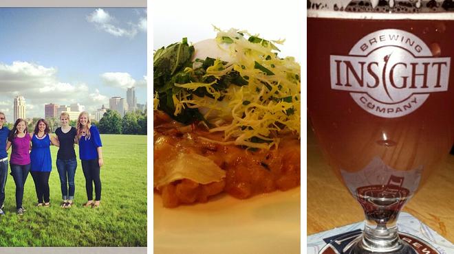 Park ⇨ New american restaurant ⇨ Brewery
