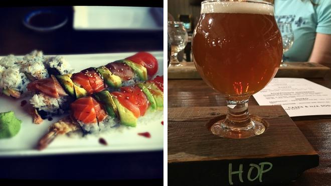 Sushi restaurant ⇨ Brewery