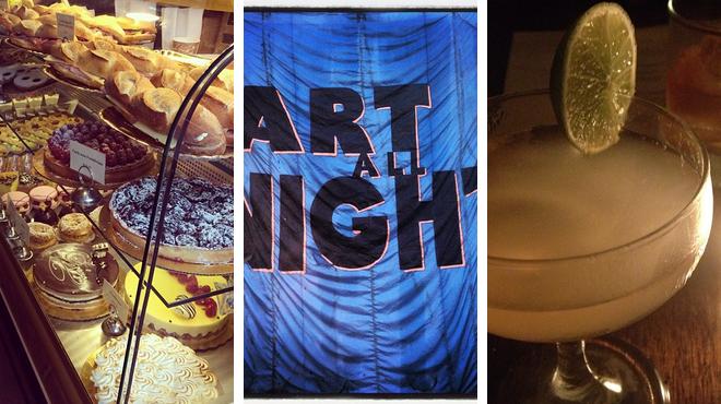 Bakery ⇨ Admire art ⇨ Delicious Cocktails
