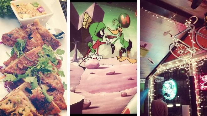 Thai restaurant ⇨ Admire art ⇨ Bar
