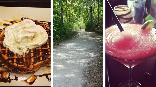Breakfast spot ⇨ Park ⇨ Bar