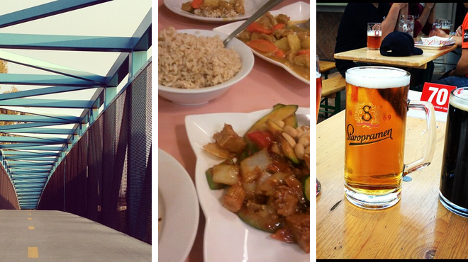 Trail ⇨ Vegetarian / vegan restaurant ⇨ Beer garden