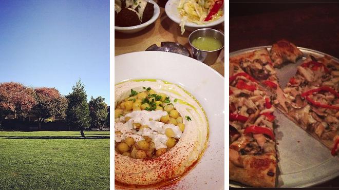 Park ⇨ Mediterranean restaurant ⇨ Beer garden