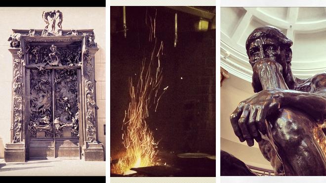 Sculpture garden ⇨ Greek restaurant ⇨ Learn about art