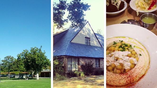 Park ⇨ Learn about history ⇨ Mediterranean restaurant