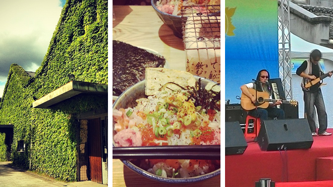 Other great outdoors ⇨ Sushi restaurant ⇨ Admire art