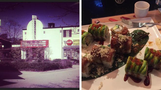 Catch a movie ⇨ Asian restaurant
