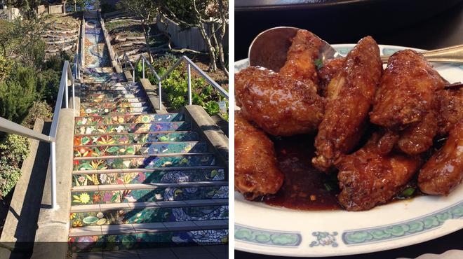 Sculpture garden ⇨ Chinese restaurant