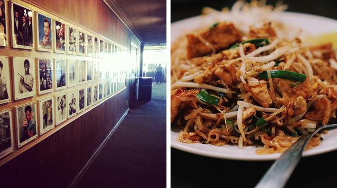 Catch a movie ⇨ Thai restaurant