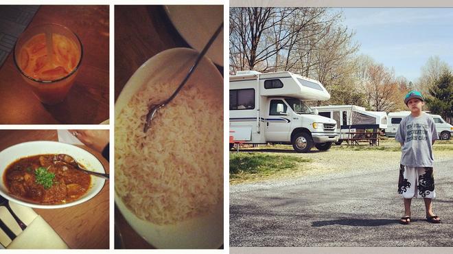 Indian restaurant ⇨ Campground