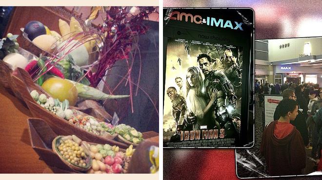 Thai restaurant ⇨ Catch a movie