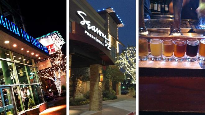 Catch a movie ⇨ New american restaurant ⇨ Bar