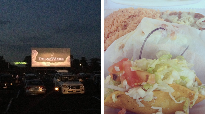 Catch a movie ⇨ Mexican restaurant