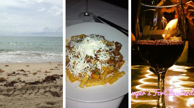 Beach ⇨ Italian restaurant ⇨ Sports bar