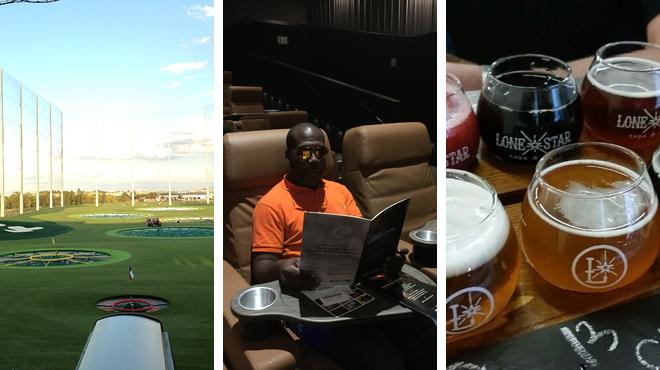 Golf course ⇨ Catch a movie ⇨ Bar