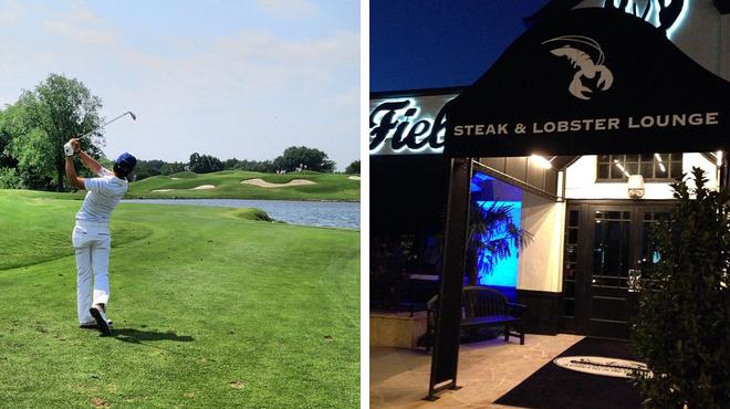 Golf course ⇨ Couple's Massage ⇨ Steakhouse