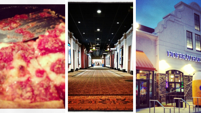 Pizza place ⇨ Catch a movie ⇨ Brewery