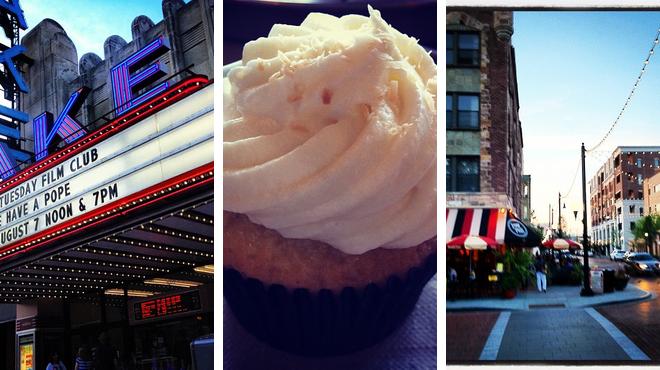 Catch a movie ⇨ Bakery ⇨ Bar