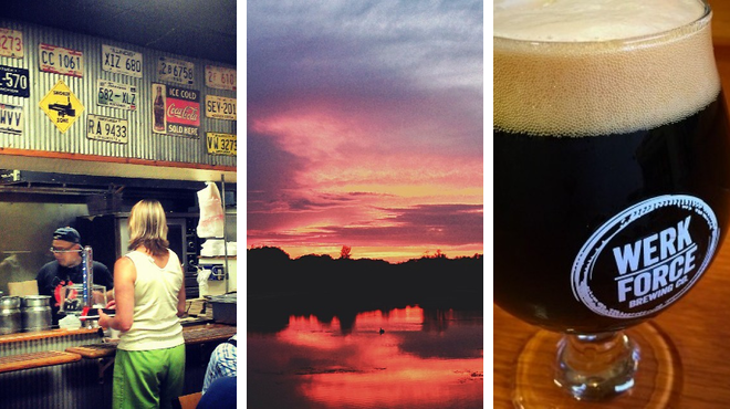 Bbq joint ⇨ Lake ⇨ Brewery