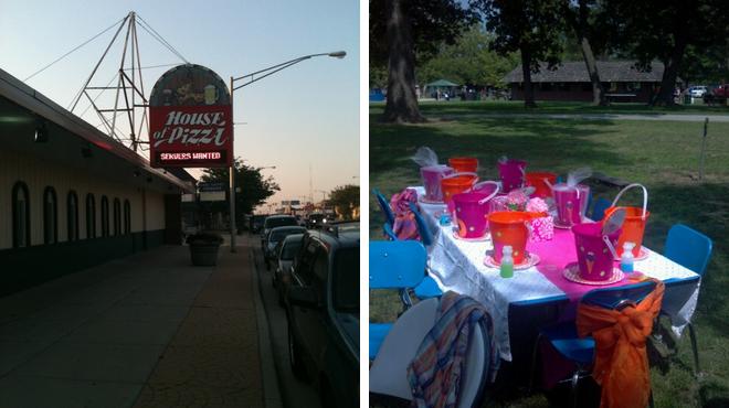 Pizza place ⇨ Park