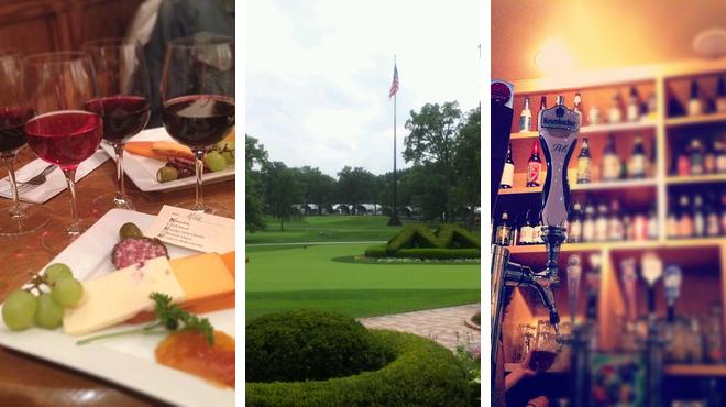 Wine Tasting ⇨ Golf course ⇨ Bar