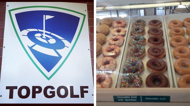 Golf course ⇨ Donut shop