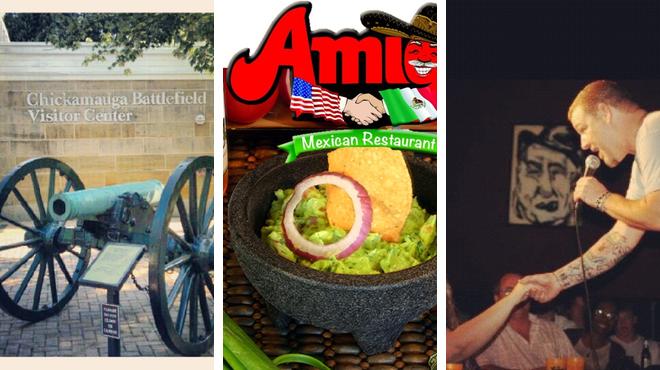 National park ⇨ Mexican restaurant ⇨ Laugh out loud