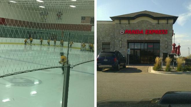 Hockey field ⇨ Chinese restaurant