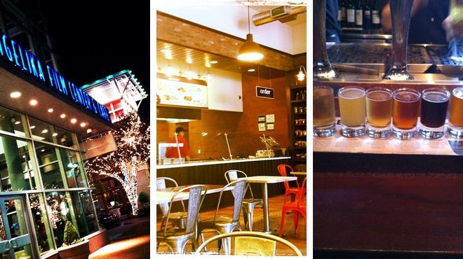 Catch a movie ⇨ Mediterranean restaurant ⇨ Bar