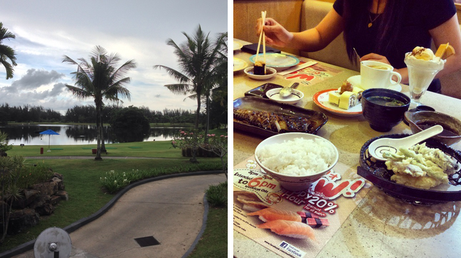 Golf course ⇨ Sushi restaurant