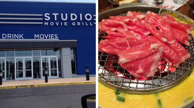 Catch a movie ⇨ Korean restaurant