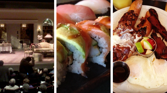 Indie theater ⇨ Sushi restaurant ⇨ Bar