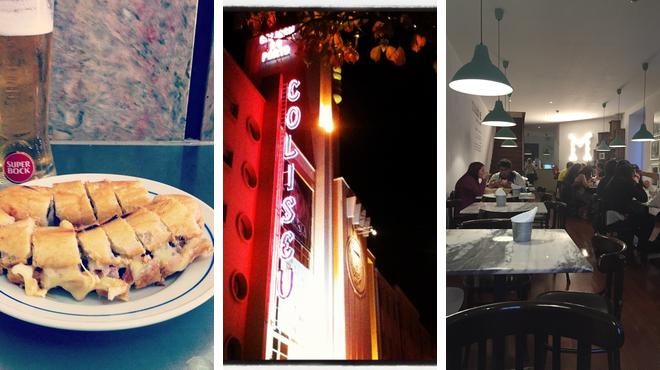 Hot dog joint ⇨ Catch a show ⇨ Restaurant