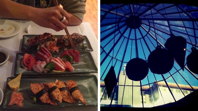 Japanese restaurant ⇨ Catch a movie
