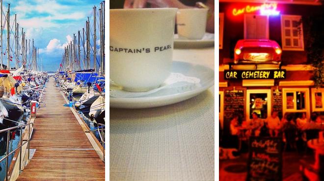 Harbor / marina ⇨ Seafood restaurant ⇨ Bar