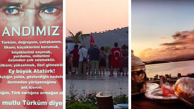 Turkish restaurant ⇨ Park ⇨ Bar