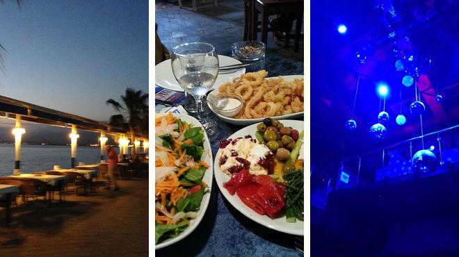 Beach ⇨ Seafood restaurant ⇨ Beach bar