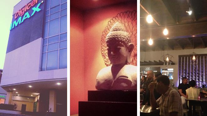 Catch a movie ⇨ Thai restaurant ⇨ Lounge